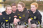Holly Hickey, Niamh Cagney, Kara O'Connor and Caragh Sugrue, Muckross Rowing Club,  pictured at the Kerry Head of the River competition in Killorglin on Saturday morning.......