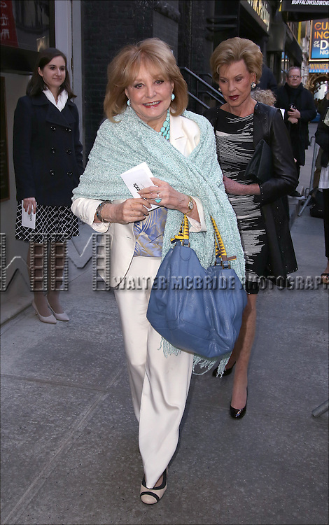 Barbara Walters attends the Broadway Opening Night performance of 'The Father'  at The Samuel J. Friedman Theatre on April  14, 2016 in New York City.