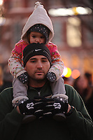 NWA Democrat-Gazette/ANDY SHUPE<br /> Saturday, Nov. 21, 2015, after the lighting ceremony for the Winter Wonderland holiday lights display on the Bentonville square. The display has been expanded this year to include more lights and more color.