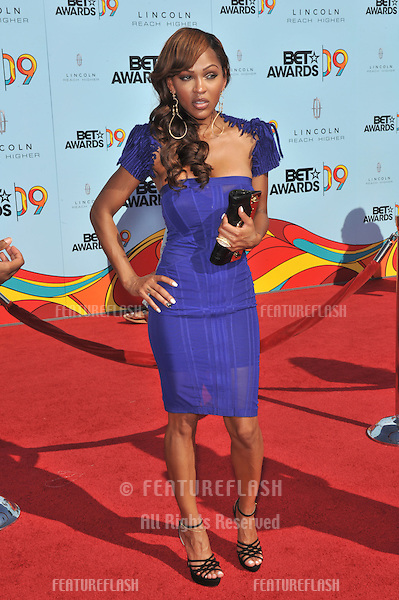 Meagan Good at the 2009 BET Awards (Black Entertainment Television) at the Shrine Auditorium..June 28, 2009  Los Angeles, CA.Picture: Paul Smith / Featureflash