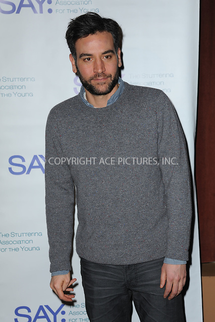 WWW.ACEPIXS.COM<br /> January 12, 2015 New York City<br /> <br /> Josh Radnor attending the Third Annual Paul Rudd All-Star Bowling Benefit for The Stuttering Association for the Young (SAY) at Lucky Strike Lanes &amp; Lounge on January 12, 2015 in New York City.<br /> <br /> Please byline: Kristin Callahan/AcePictures<br /> <br /> ACEPIXS.COM<br /> <br /> Tel: (212) 243 8787 or (646) 769 0430<br /> e-mail: info@acepixs.com<br /> web: http://www.acepixs.com