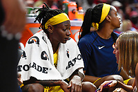 Washington, DC - Aug 8, 2019: Indiana Fever guard Erica Wheeler (17) on the bench for a breather during 2nd half of game between the Indiana Fever and the Washington Mystics. The Mystics defeat the Fever 91-78 at the Entertainment & Sports Arena in Washington, DC. (Photo by Phil Peters/Media Images International)