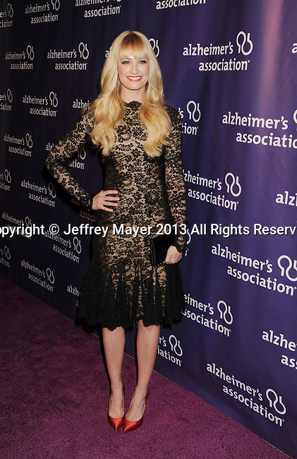 BEVERLY HILLS, CA - MARCH 20: Beth Behrs arrives at the 21st Annual 'A Night At Sardi's' to benefit the Alzheimer's Association at The Beverly Hilton Hotel on March 20, 2013 in Beverly Hills, California.