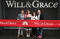 UNIVERSAL CITY, CA - AUGUST 02: Eric McCormack, Debra Messing, Megan Mullally, Sean Hayes, At 'Will & Grace' Start Of Production Kick Off Event And Ribbon Cutting Ceremony At Universal City Plaza  In California on August 02, 2017. Credit: FS/MediaPunch