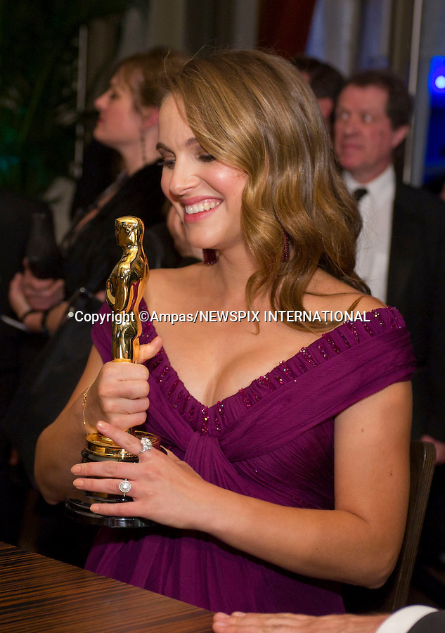 """NATALIE PORTMAN.83rd OSCARS.The 83rd Academy Awards at the Kodak Theatre, Los Angeles_27/02/2011.Mandatory Photo Credit: ©Newspix International..**ALL FEES PAYABLE TO: """"NEWSPIX INTERNATIONAL""""**..PHOTO CREDIT MANDATORY!!: NEWSPIX INTERNATIONAL(Failure to credit will incur a surcharge of 100% of reproduction fees)..IMMEDIATE CONFIRMATION OF USAGE REQUIRED:.Newspix International, 31 Chinnery Hill, Bishop's Stortford, ENGLAND CM23 3PS.Tel:+441279 324672  ; Fax: +441279656877.Mobile:  0777568 1153.e-mail: info@newspixinternational.co.uk"""