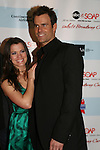 All My Children's Melissa Claire Egan and Cameron Mathison attend the after party of ABC and SOAPnet's Salutes to Broadway Cares/Equity Fights Aids on March 9, 2009 at the New York Marriott Marquis, New York, NY.  (Photo by Sue Coflin/Max Photos)
