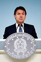 Giuseppe Conte <br /> Rome January 14th 2019. Press conference of the Minister of the Internal Affairs, of the Premier and of the Minister of Justice.<br /> Foto Samantha Zucchi Insidefoto