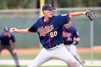 March 18, 2010:  Pitcher Daniel Berlind (60) of the Minnesota Twins organization during Spring Training at the Ft. Myers Training Complex in Ft. Myers, FL.  Photo By Mike Janes/Four Seam Images