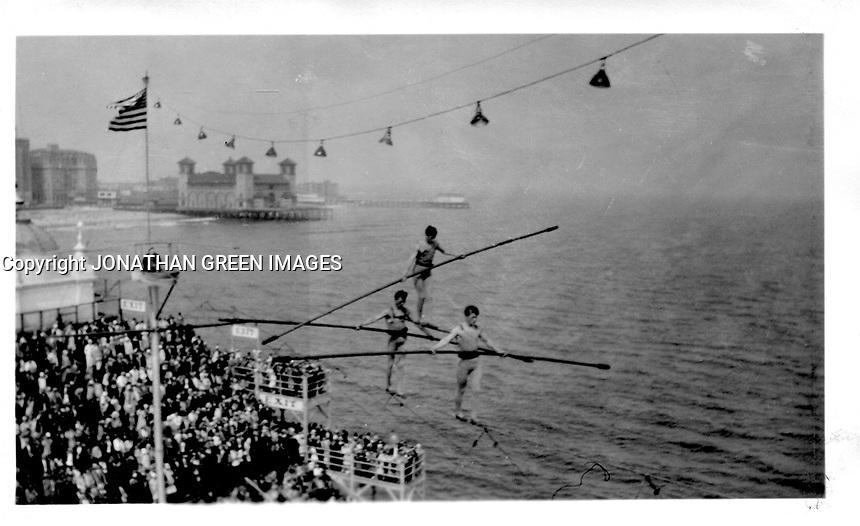 Atlantic City New Jersey Vintage Steel Pier 1930<br /> Water Ski Show By Jonathan Green