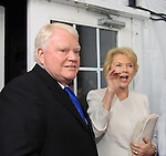 """One Life To Live's Erika Slezak """"Victoria Lord Buchanan"""" with her husband Brian Davies on the Red Carpet at New York Premiere Event for beloved series """"One Life To Live"""" on April 23, 2013 at NYU Skirball, New York City, New York - as The Online Network (TOLN) - OLTL - AMC begin airing on April 29, 2013 on Hulu and Hulu Plus.  (Photo by Sue Coflin/Max Photos)"""