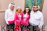 ABBA aka Wayne Enright, Aileen Galvin, Debbie Guerin and Jordan Bowler warming up back stage at the John Mitchels Lip Sync in the Ballygarry House Hotel on Sunday night.