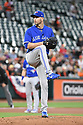 Toronto Blue Jays JA Happ (33) during a game against the Baltimore Orioles on April 5, 2017 at Oriole Park at Camden Yards in Baltimore, MD. The Orioles beat the Blue Jays 3-1.