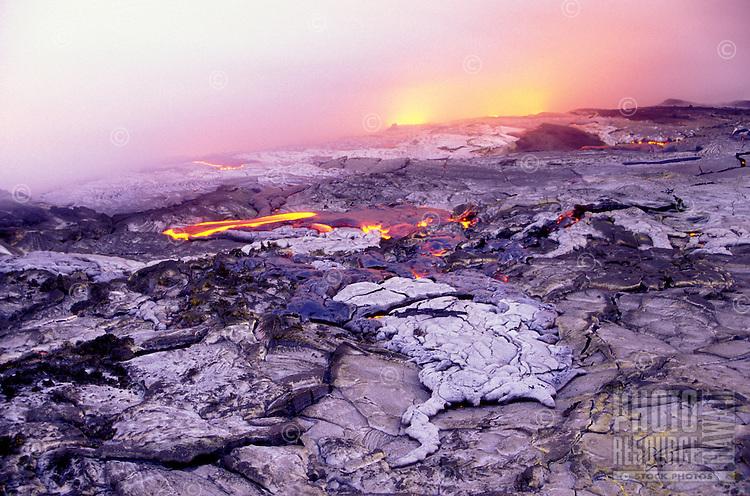 Kilauea Volcano lava flow, Big Island, Hawaii