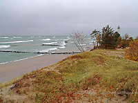 Crisp Pt lighthouse autumn lighthouses in the Upper Peninsula of Michigan