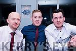 Enjoying the Cromane GAA Club Annual Social in Jacks' Restaurant in Cromane on Friday night.<br /> L-R Danny Connor, Finbar Casey &amp; Emmet Casey.