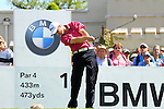 Ross Fisher tees off from the 1st tee to start  Round 3 of the BMW PGA Championship at  Wentworth, Surrey, England, 22nd May 2010...Photo Golffile/Eoin Clarke.(Photo credit should read Eoin Clarke www.golffile.ie)....This Picture has been sent you under the condtions enclosed by:.Newsfile Ltd..The Studio,.Millmount Abbey,.Drogheda,.Co Meath..Ireland..Tel: +353(0)41-9871240.Fax: +353(0)41-9871260.GSM: +353(0)86-2500958.email: pictures@newsfile.ie.www.newsfile.ie.