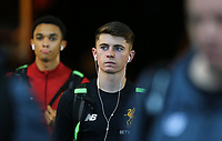 Ben Woodburn of Liverpool arrives ahead of the Premier League match between Swansea City and Liverpool at the Liberty Stadium, Swansea, Wales on 22 January 2018. Photo by Mark Hawkins / PRiME Media Images.