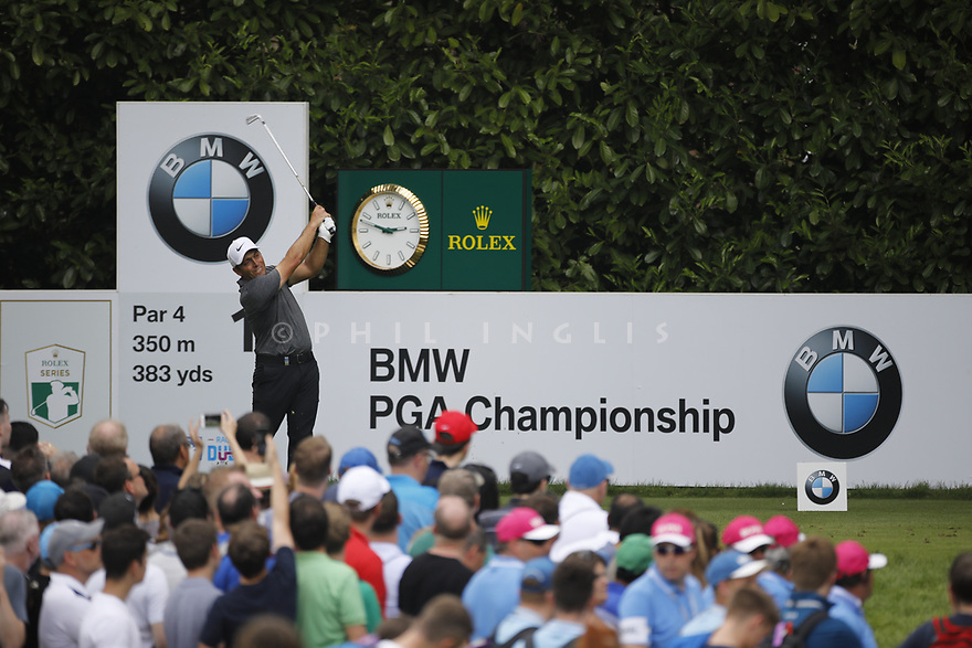 Francesco Molinari (ITA) in action during the final round of the 2018 BMW PGA Championship played on the West Course, Wentworth Club, Virginia Water, Surrey.<br />  27/05/2018.<br /> Picture: Golffile | Phil Inglis<br /> <br /> <br /> All photo usage must carry mandatory copyright credit (&copy; Golffile | Phil Inglis)
