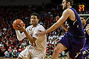 March 1, 2014: Shavon Shields (31) of the Nebraska Cornhuskers drives to the basket against Alex Olah (22) of the Northwestern Wildcats during the second half at the Pinnacle Bank Arena, Lincoln, NE. Nebraska 54 Northwestern 47.