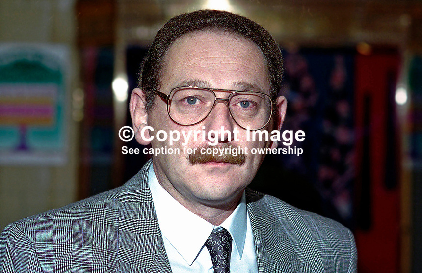 David Hadfield, official, National Union of Mineworkers, UK. Ref: 199410026...Copyright Image from Victor Patterson, 54 Dorchester Park, Belfast, UK, BT9 6RJ..Tel: +44 28 9066 1296.Mob: +44 7802 353836.Voicemail +44 20 8816 7153.Skype: victorpattersonbelfast.Email: victorpatterson@mac.com.Email: victorpatterson@ireland.com (back-up)..IMPORTANT: If you wish to use this image or any other of my images please go to www.victorpatterson.com and click on the Terms & Conditions. Then contact me by email or phone with the reference number(s) of the image(s) concerned.