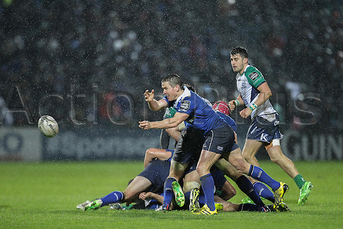 01.01.2016. RDS Arena, Dublin, Ireland. Guinness Pro 12 Leinster versus Connacht. Ian Reddan of Leinster in action against Connacht.