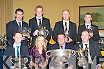 PRESENTATIONS: Award winners at the Dr Crokes GAA club annual social held in the Dromhall Hotel, Killarney on Saturday were front l-r: Colm Cooper, Laura Buckley, Patrick O'Sullivan (Chairman) and Brian O'Callaghan. Back l-r: Matt Courtney, Johnny Buckley, Jim Kennedy and Kevin Smith.   Copyright Kerry's Eye 2008