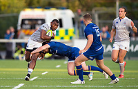 Semesa Rokoduguni of Bath Rugby takes on the Leinster Rugby defence. Pre-season friendly match, between Leinster Rugby and Bath Rugby on August 25, 2017 at Donnybrook Stadium in Dublin, Republic of Ireland. Photo by: Patrick Khachfe / Onside Images