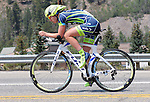 "August 121, 2015 - Breckenridge, Colorado, U.S. -  Team Tibco rider, Patricia Schwager, during the inaugural women's edition of the U.S. Pro Cycling Challenge, Breckenridge, Colorado.  Known as ""America's Race,"" the USA Pro Challenge takes place August 17-23, 2015 and for the first time will highlight women's cycling through an inaugural  three-day invitation-only event that will feature many of the USA's top women cyclists."