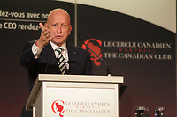"Michael E. Roach, President and CEO of CGI,  address the Canadian Club of Montreal, monday  September 14, 2015 at the Fairmont The Queen Elizabeth Hotel in Montreal, Canada.<br /> <br /> n October, CGI will be starting its 40th year in business. This is a major milestone in the company's history and Mr. Roach will present CGI's approach to building a prosperous global company in his talk titled ""CGI: 40 Years of Continuous Commitment.""<br /> <br /> PHOTO : Agence Quebec Presse - Pierre Roussel"