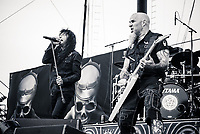 ANTHRAX photographed at the Five Points Amphitheater in Irvine, CA USA on May 11, 2018.  Photo © Kevin Estrada / MediaPunch