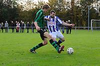 VOETBAL: LEMMER: 25-10-2015, vv Lemmer-vv Heerenveen, uitslag 0-3, Stefan Bollen (#11), Marc Reussing(#)3, ©foto Martin de Jong