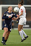 03 December 2010: Notre Dame's Melissa Henderson (left) and Ohio State's Lauren Beachy (right). The Notre Dame Fighting Irish defeated the Ohio State University Buckeyes 1-0 at WakeMed Stadium in Cary, North Carolina in an NCAA Women's College Cup semifinal game.