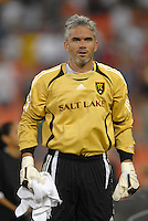 Real Salt Lake goalkeeper Scott Garlick (1) during the team presentation. Real Salt Lake tied DC United 1-1, Saturday, September 9, 2006 at RFK Stadium.