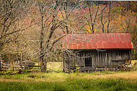 An old barn in Boxley Vally along the Buffalo National River in Arkansas.