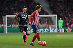 Atletico de Madrid's Antoine Griezmann and Juventus' Mario Mandzukic during UEFA Champions League match, Round of 16, 1st leg between Atletico de Madrid and Juventus at Wanda Metropolitano Stadium in Madrid, Spain. February 20, 2019. (ALTERPHOTOS/A. Perez Meca)