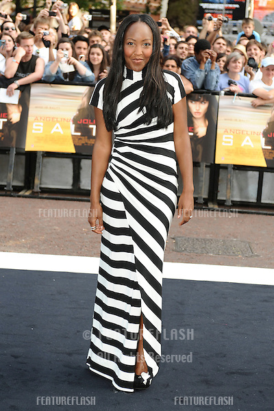 "TV presenter, Angelica Bell arrives for the ""Salt"" premiere at the Empire Leicester Square, London. 16/08/2010  Picture by: Steve Vas / Featureflash"
