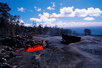 lava skylight at 2000 foot elevation Hawaii, USA Volcanoes National Park, Big Island of Hawaii, USA, Pacific Ocean