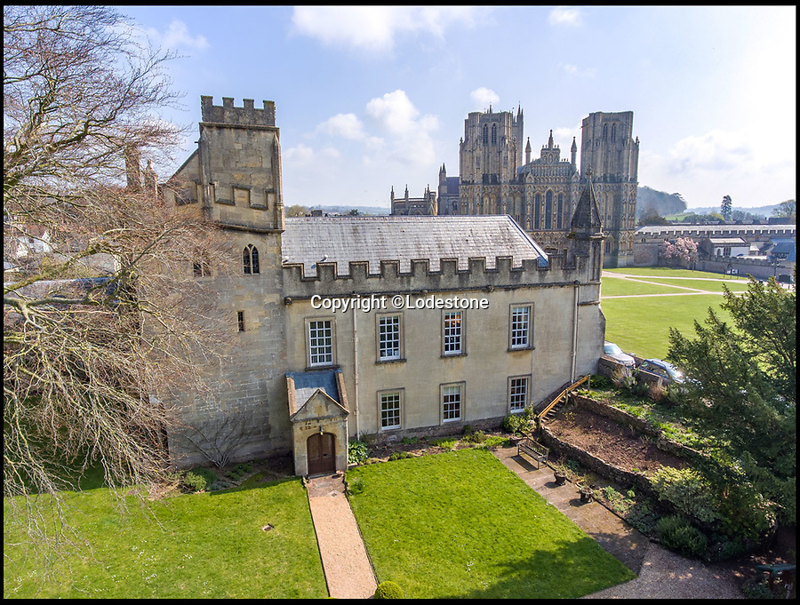 BNPS.co.uk (01202 558833)<br /> Pic: Lodestone/BNPS<br /> <br /> Divine Location...First time on the market in 800 years - The historic Deanery of Wells Cathedral in Somerset.<br /> <br /> A historic 800 year old property offering unrivalled views of Britain's 'most beautiful and poetic' cathedral has emerged for sale for the first time.<br /> <br /> The majestic Old Deanery, overlooking Wells Cathedral, was the primary residence of 62 Deans from 1230 until 1958.<br /> <br /> For the past six decades, it has been used as the diocesan offices for the Diocese of Bath and Wells accommodating over 50 staff, who are now relocating to a new building in the outskirts of Wells, Somerset.<br /> <br /> The Grade I listed building whose earliest fabric dates back to the 12th century is on the market with estate agents Lodestone for £2.5million.