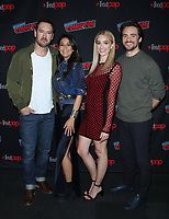 NEW YORK, NY - October 6: Mark-Paul Gosselaar, Emmanuelle Chriqui, Brianne Howey, Mark-Paul Gosselaar at New York Comic Con 2018 promoting FOX TV's The Passage at the Jacob K. Javits Convention Center in New York City on October 06, 2018. <br /> CAP/MPI/RW<br /> &copy;RW/MPI/Capital Pictures