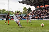 Joe Jacobson of Wycombe Wanderers scores from the penalty spot during the Sky Bet League 2 match between Barnet and Wycombe Wanderers at The Hive, London, England on 17 April 2017. Photo by Andy Rowland.