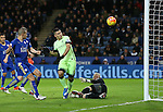 Manchester City's Sergio Aguero puts an easy chance over the bar<br /> <br /> Barclays Premier League- Leicester City vs Manchester City - King Power Stadium - England - 29th December 2015 - Picture - David Klein/Sportimage