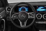 Car pictures of steering wheel view of a 2019 Mercedes Benz A-Class A-200 4 Door Sedan Steering Wheel