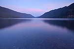Dawn at Lake Crescent in Olympic National Park, Washington, USA