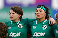 9th February 2020; Energia Park, Dublin, Leinster, Ireland; International Womens Rugby, Six Nations, Ireland versus Wales; Ciara Griffin (c) and Lindsay Peat of Ireland prior to kickoff