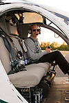 Pilot Sitting in a Helicopter, Oregon