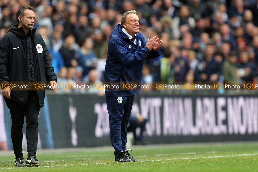 Cardiff City manager Neil Warnock during Tottenham Hotspur vs Cardiff City, Premier League Football at Wembley Stadium on 6th October 2018
