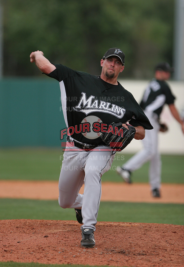 Nate Fields of the Florida Marlins vs. the Houston Astros March 15th, 2007 at Osceola County Stadium in Kissimmee, FL during Spring Training action.  Photo By Mike Janes/Four Seam Images