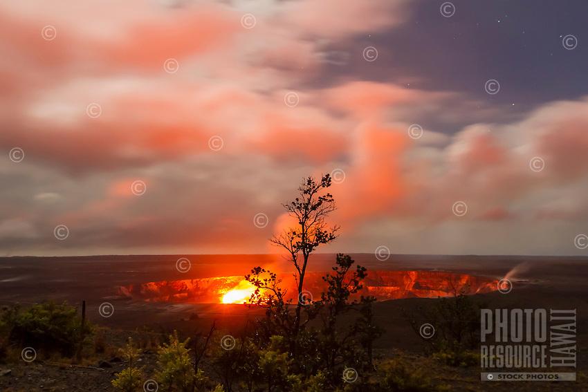 Halema'uma'u Crater, Kilauea Volcano at Hawai'i Volcanoes National Park, Hawai'i Island, June 2015.
