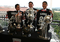 WASHINGTON, DC-JULY 10,2012:  Erick Thohir, Jason Levien, Will Chang during a D.C. United ownership press conference at the POV Lounge in the W Hotel, Washington, DC.