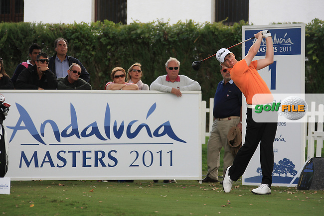 Andre Dodt (AUS) during the 1st day at the  Andalucía Masters at Club de Golf Valderrama, Sotogrande, Spain. .Picture Fran Caffrey www.golffile.ie